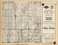 Arcada, Pine River T12N-R3W, Gratiot County 1955